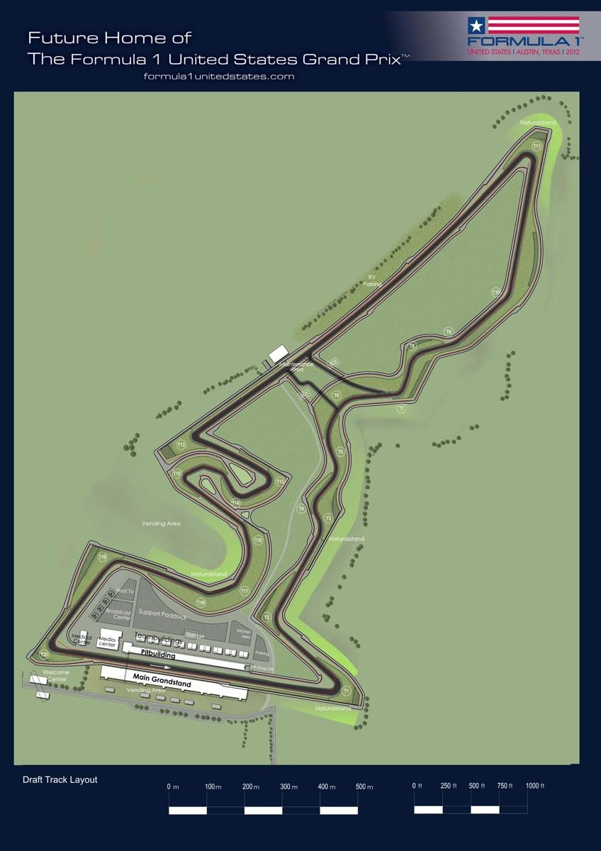 F1 USGP Track Layout (2D)