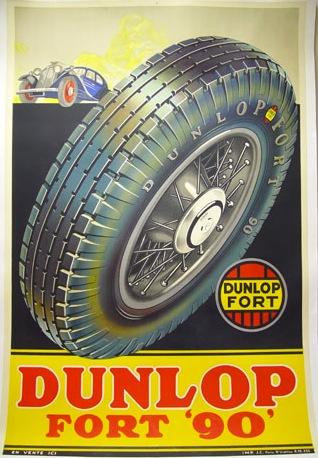 Dunlop Tire Poster