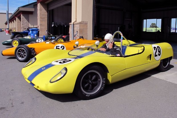 Ready for his race, Carl More felt that the suspension settings on his Lotus 23B were spot-on.  William Edgar Photo