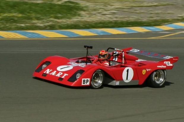 John Goodman's V12 Ferrari howled properly during his Group F race.  Graham Blake Photo