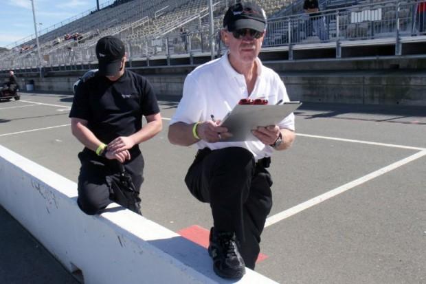 Clocking John Goodman's Devin, crew chief Walter Gerber saw lap time drop as low oil pressure finished John's race.  William Edgar Photo