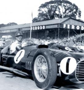 Juan Manuel Fangio in BRM V16 P15 at Goodwood, 1953