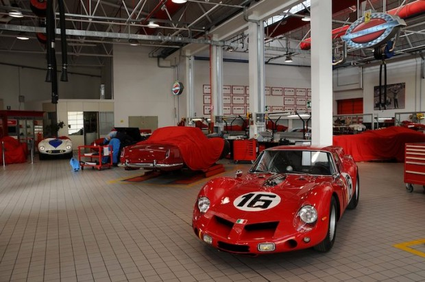 Ferrari 250 GT Breadvan at Ferrari Classiche Workshop