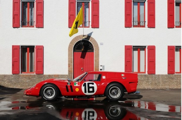 Ferrari 250 GT Breadvan in front of Enzo Ferrari's House at Fiorano