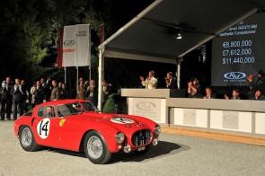 Ferrari 375MM Auction Block