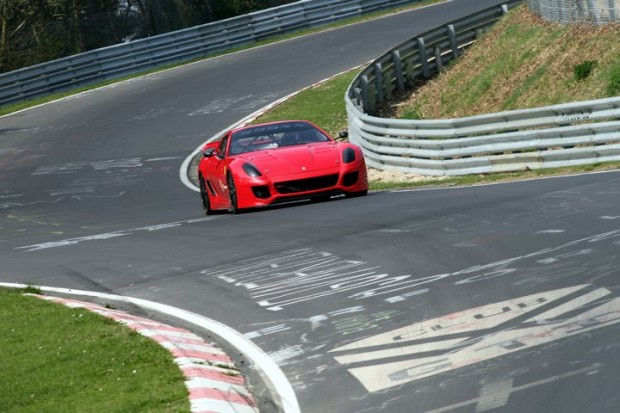 Ferrari 599XX at Nurburgring on track
