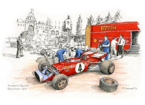 Ferrari Barcelona 1971 by Paul Chenard