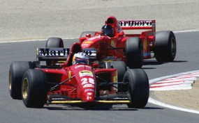 Vintage Ferrari F1 at Laguna Seca