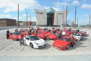 Ferrari Owners Club Visits Titantic Belfast