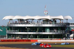 First lap in front of the BRDC centre. Photo: Simon Wright