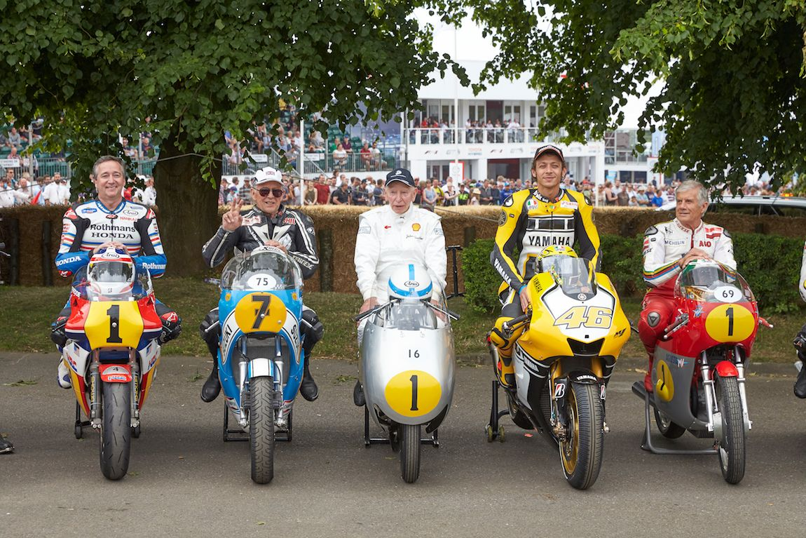 A special moment during the Goodwood Festival of Speed 2015
