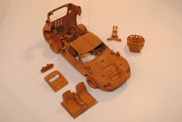 Ford GT40 Wood Carving