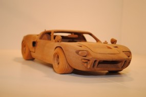 Ford GT40 Wood Carving Front