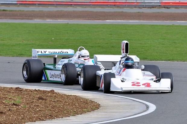 Frank Sytner - Hesketh 308B and Anthony Reid - Williams FW07B