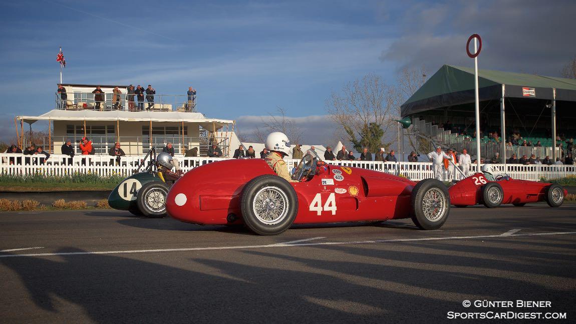 #14 1952 Cooper-Bristol Mk1 T20, #44 1952 Ferrari 500/625A and #26 1957 Maserati 250F
