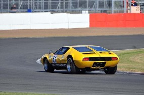 GT1 class winner Heiko Ostmann in the De Tomaso Mangusta. Photo: Simon Wright