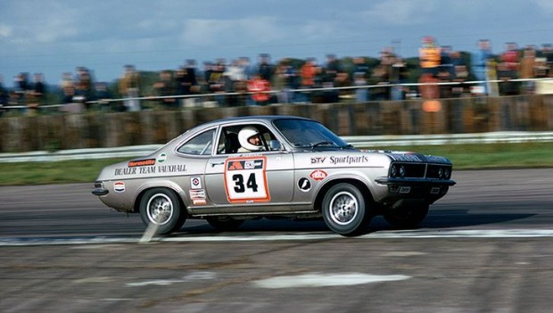 Gerry Marshall in a Vauxhall