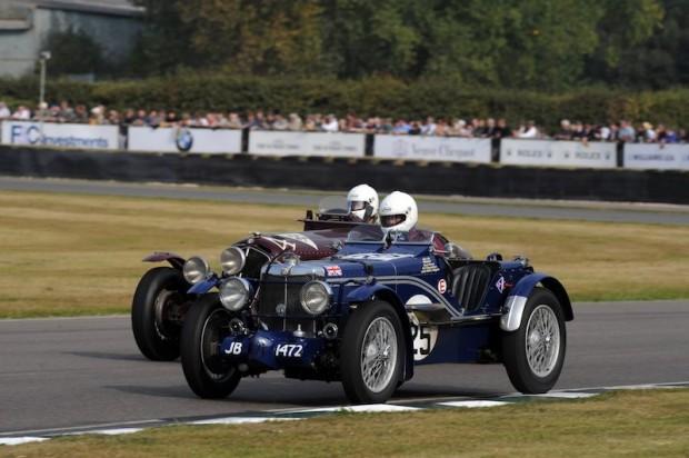 Brandon Smith-Hilliard - MG K3 tries to keep ahead of Jonathan Turner - Alfa Romeo 6C 1750 Le Mans