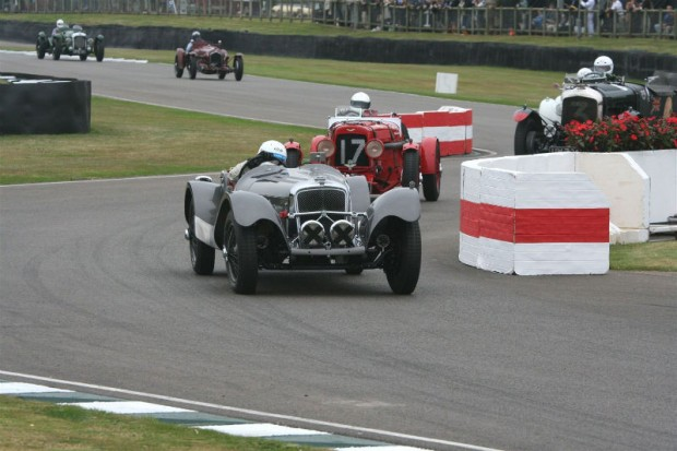 Patrick Blakeney-Edwards finished a disappointing second in the Frazer Nash Super Sports; photo credit: Peter Brown