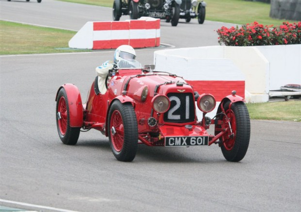 Brooklands Trophy Winner Nick Mason in his Aston Martin Ulster; photo credit: Peter Brown