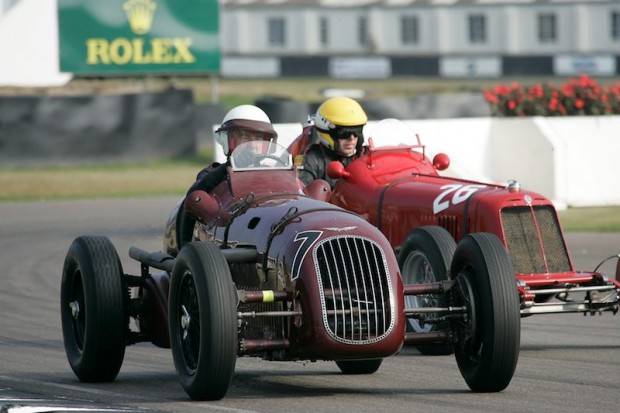 Martin Redmond - Alta leads Simon Edwards - Maserati 4CM