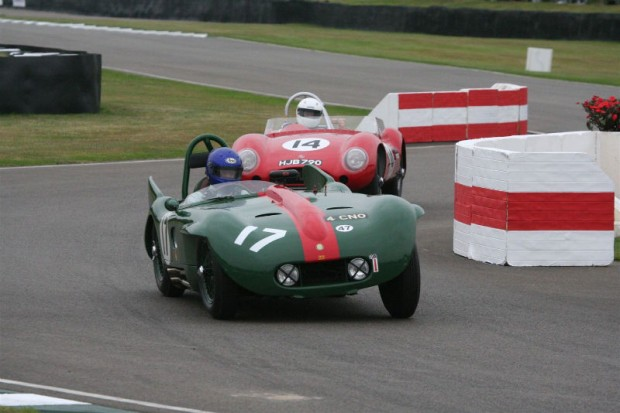 Barry Wood's Lister-Bristol and George Edney's Lester-MG; photo credit: Peter Brown