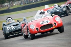 Tony Bailey - OSCA-Alfa Romeo MT4 leads Malcolm Ricketts - Lotus-Climax Mk IX