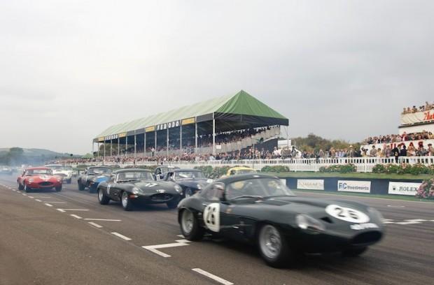 Derek Bell - Jaguar E-Type Lightweight 'Low-Drag' Coupe leads bevy of E-Types