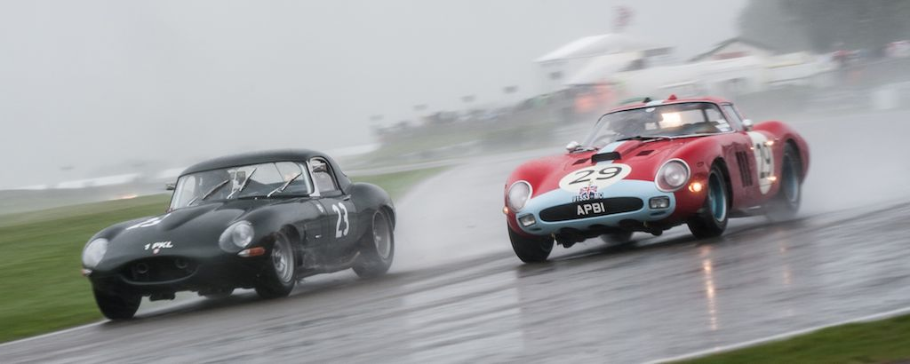 Jaguar E-Type and Ferrari 250 GTO/64