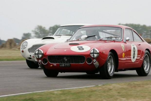 Jardine/Osborn Ferrari 250 GT Lusso tried to stay ahead of an Aston Martin DB4GT