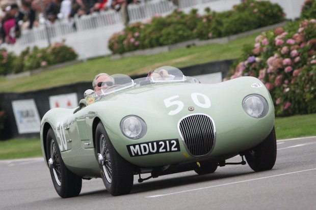 Another Jaguar C-Type takes part in Moss Tribute at Goodwood Revival