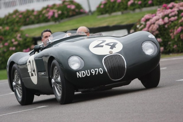 Jaguar C-Type takes part in Moss Tribute at Goodwood Revival