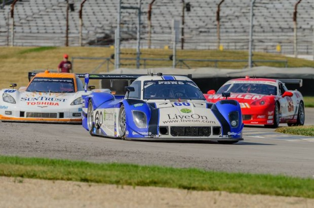 No. 60 Michael Shank Racing with Curb-Agajanian Ford Riley DP testing at IMS (Photo: IMS / Forrest Mellott)