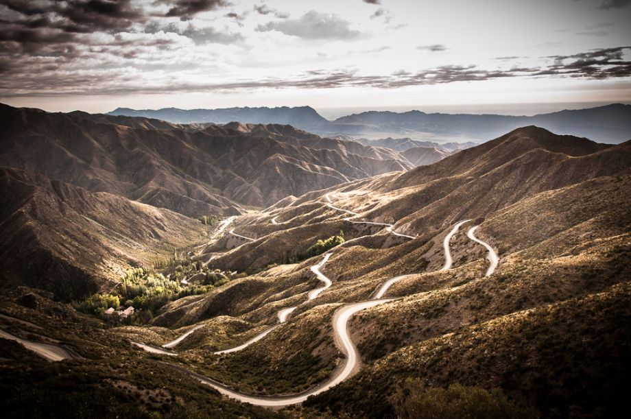 Pass over the Andes Mountains into Argentina