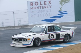 Andrew Cannon in his 1974 3.0 BMW CSL Batmobile