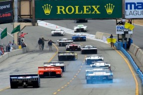 Start of the group 9A qualifying race at Rolex Motorsports Reunion