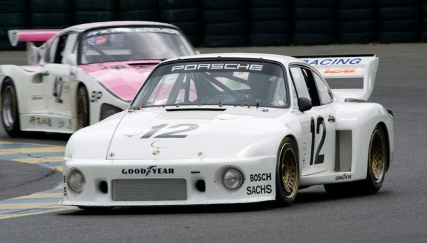 Bruce Canepa's Porsche 935 leads Ranson Webster's 935 K3