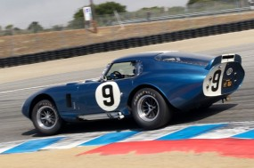 Rob Walton's 1965 Cobra Daytona Coupe in turn 11.