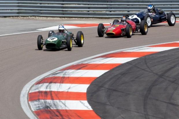 Lotus 18, Cooper T43 and  Heron F1