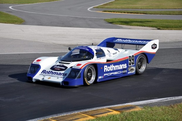 Christian Zugel from Holmdel, NJ drove this 1986 Porsche 962-123 in the GTP/WSC feature race.  He finished 6th.