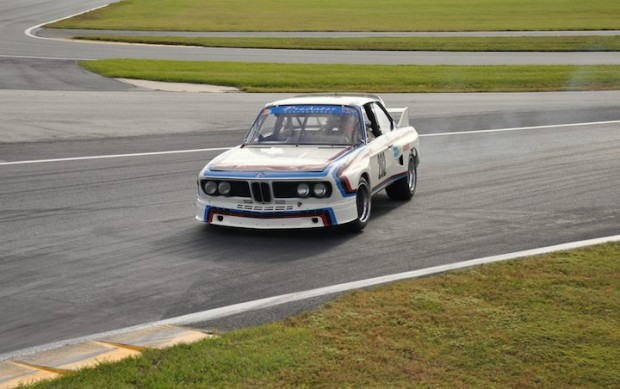 Byron DeFoor of Ooltewah, TN giving all who watched a lesson on how to do a  360 degree spin in a 1973 BMW 3.0 CSL.
