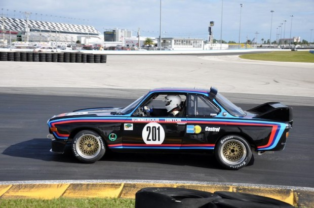 Robert Summerour in his 1972 BMW CSL during the Classic GT feature race.   He finished 25th.