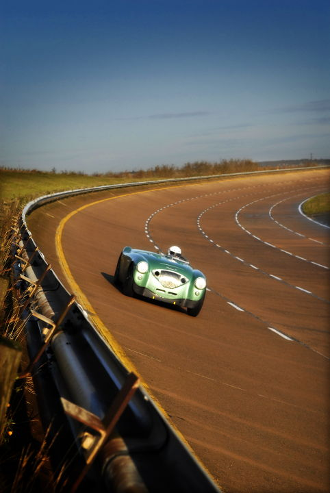 Healey Endurance shines in the early sun around Millbrook
