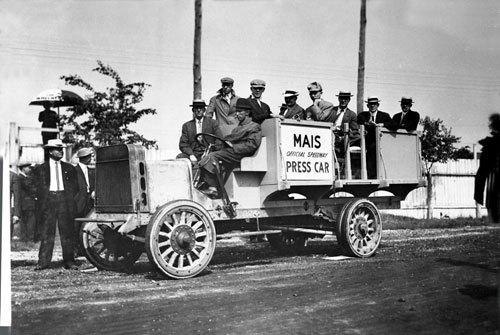 Press car at 1911 Indianapolis 500