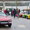 Caterham line-up at the Brooklands Museum New Year's Day Classic Gathering 2015