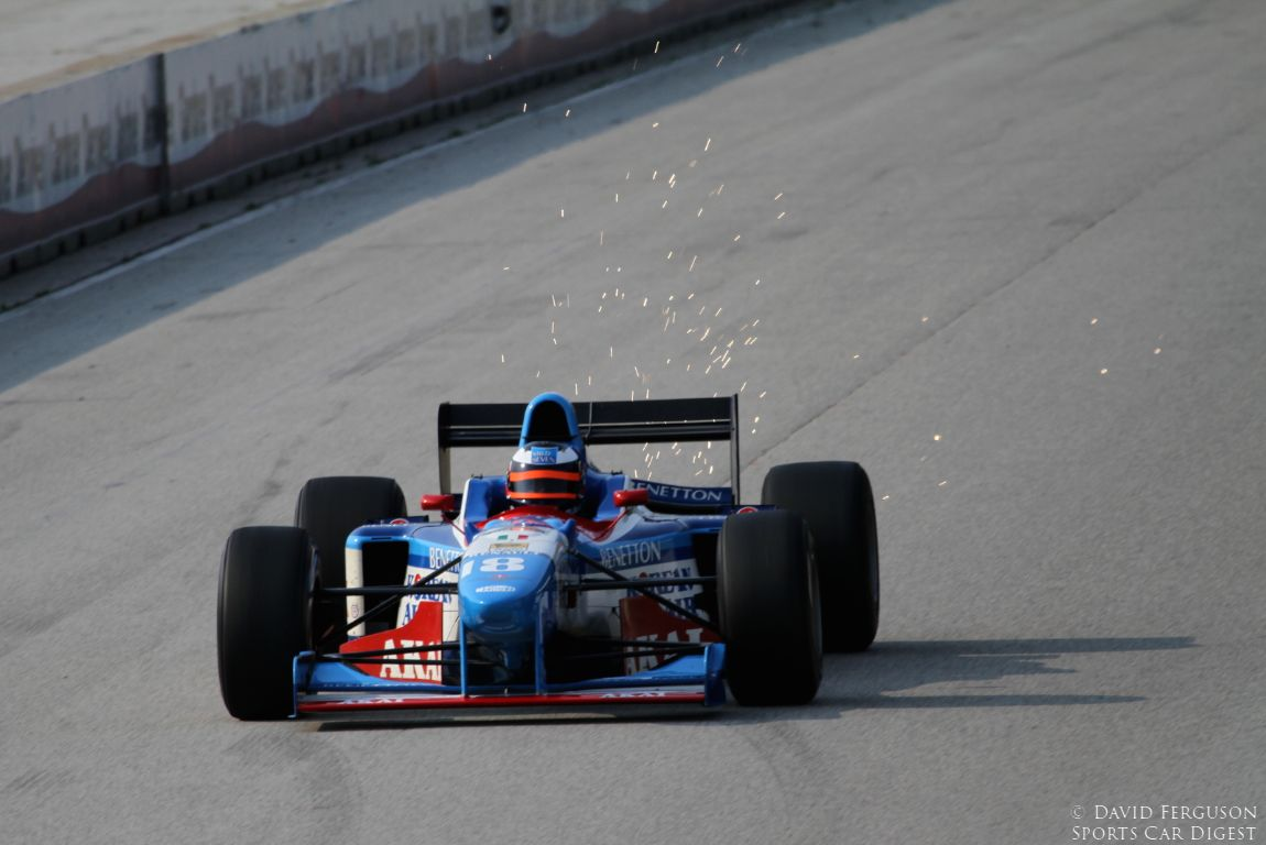 Brian French, 97 Benetton 197, makes sparks fly.
