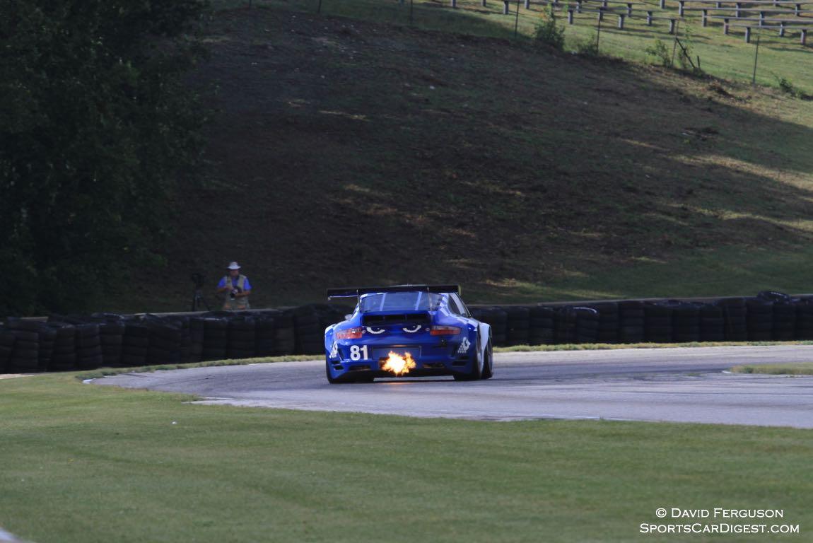 Juan Gonzalez entering turn 7 in his 07 Porsche 997.