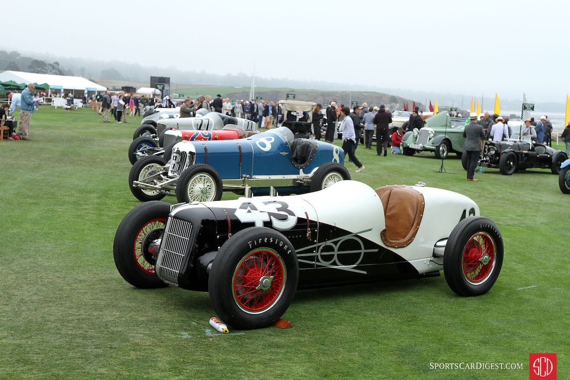Two-Man Indianapolis Race Cars Class - 2016 Pebble Beach Concours d'Elegance