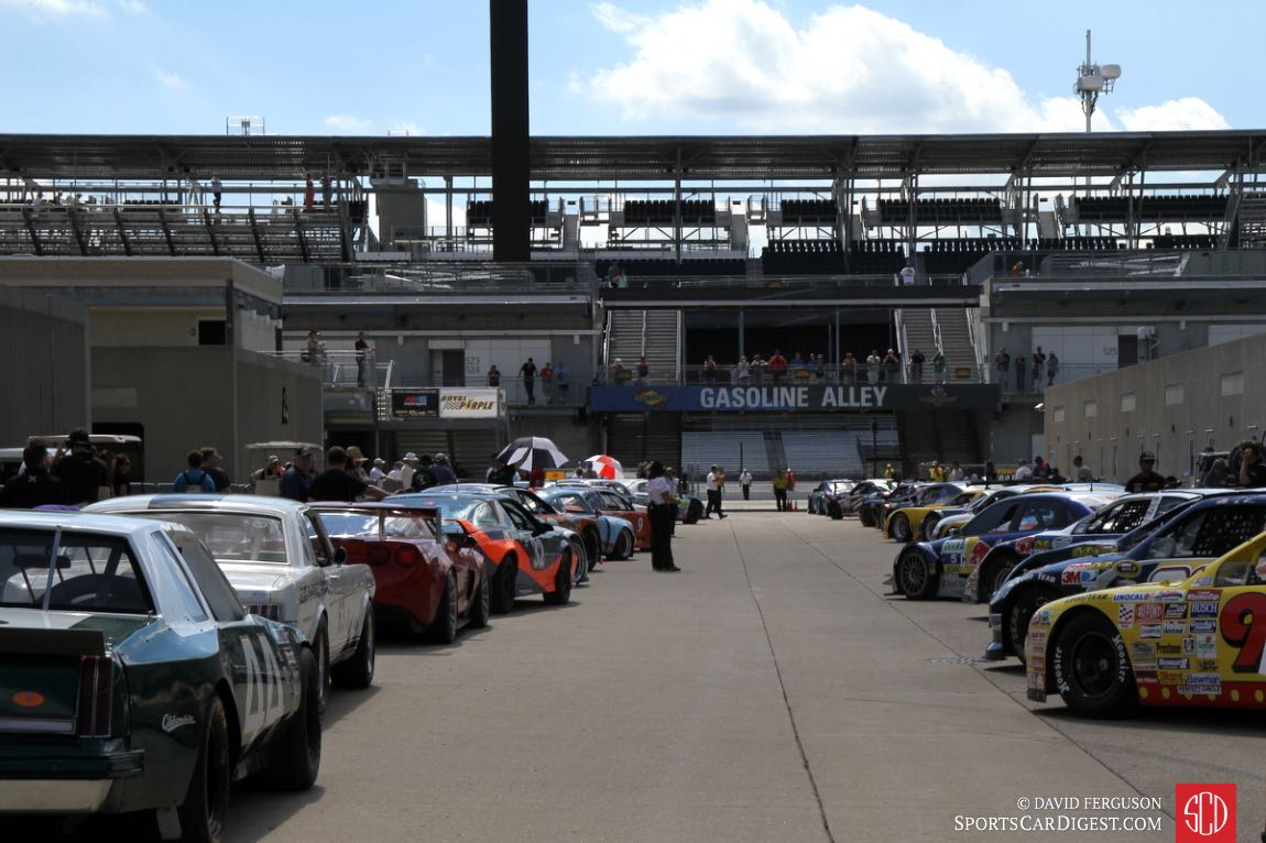 Just heading on to the track has a higher sense of drama at Indy.
