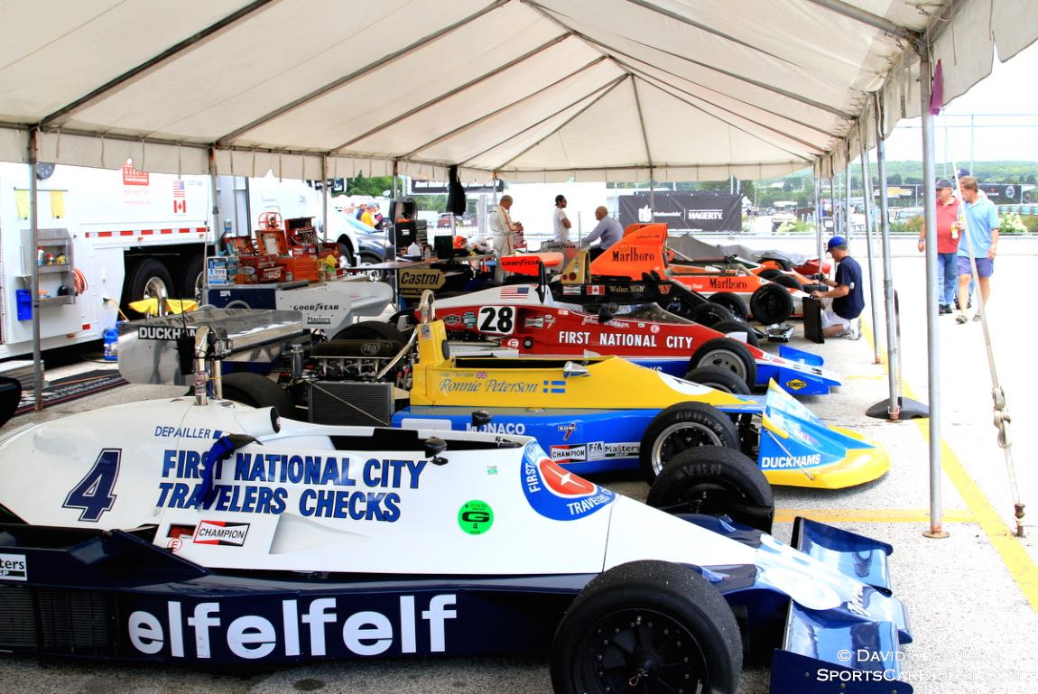 The Masters USA cars included a Tyrrell, March, Penske, Wolf, McLaren and March.